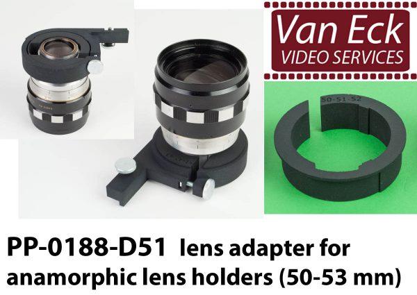 Lens adapter voor anamorfische lens houders (50-53mm)