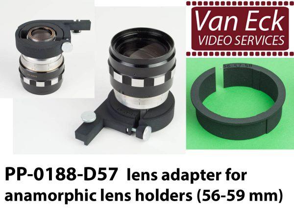 Lens adapter voor anamorfische lens houders (56-59mm)