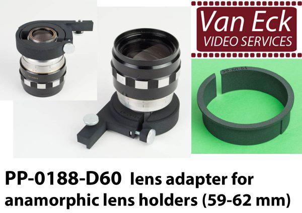 Lens adapter voor anamorfische lens houders (59-62mm)