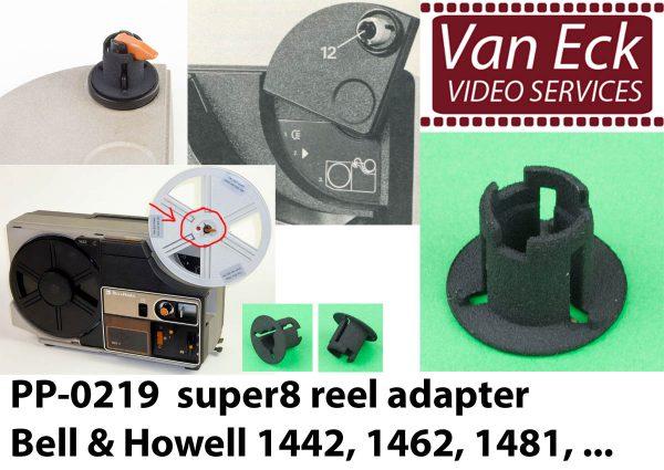 Super8 spoel adapter Bell & Howell 1442, 1462, 1481 -