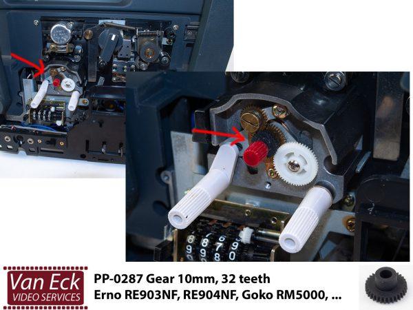 PP-0287 Tandwieltje 10mm, 32 teeth - Erno RE903NF, RE904NF, Goko RM5000, ...
