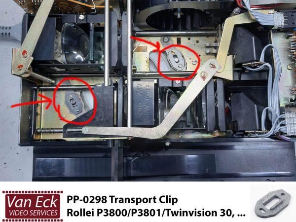 Rollei P3800/P3801/Twinvision 35, Transport Clip