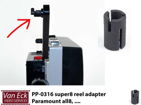 Super8 spoel adapter - Paramount all8, ... (PP-0316)