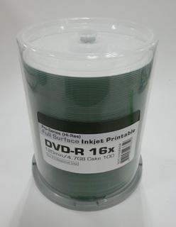 Ritek DVD-R inkjet wit 16x verpakt per cakebox 100 (102348)