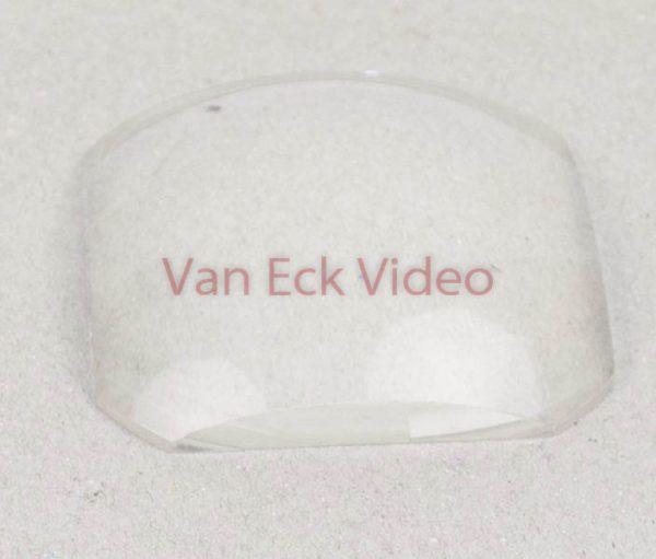 Dia projector condensor lens - afgehoekte vierkant - plat/bol - 52mm x 15mm