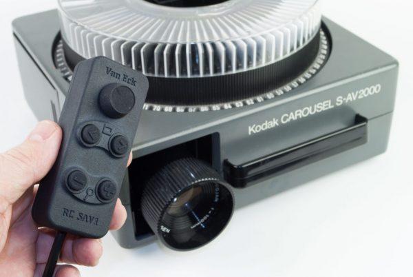 Van Eck RC SAV1 - afstandsbediening met timer voor Kodak S-AV diaprojectoren