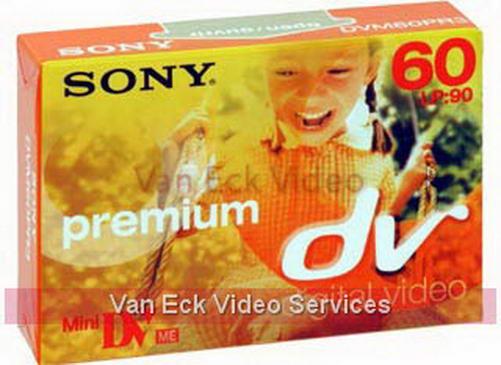 Sony MiniDV premium tape 60 min DVM60PR
