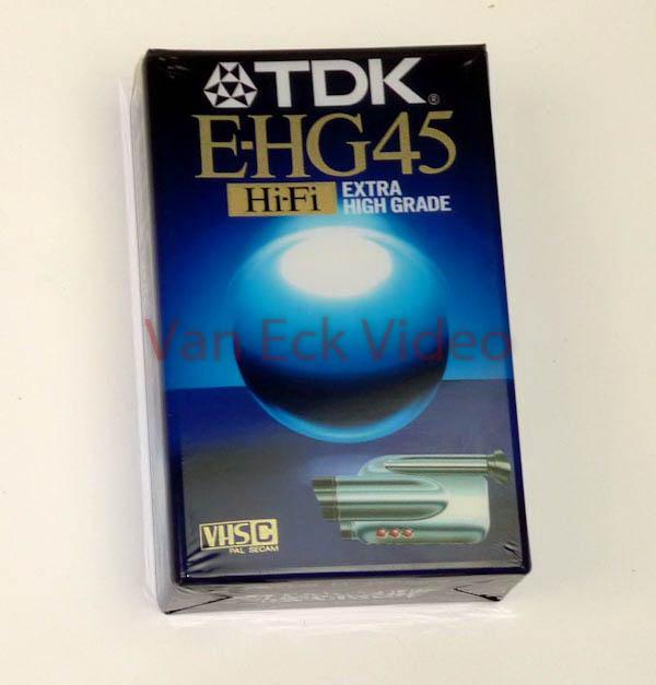 TDK VHC-C E-HG45 Hi-Hi Extra High Grade