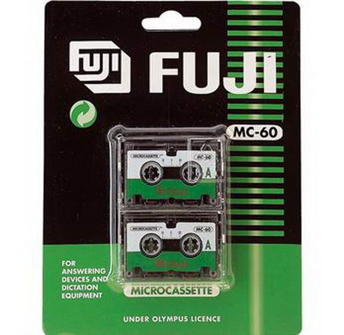 Fuji MC-60 microcassette (2 stuks)
