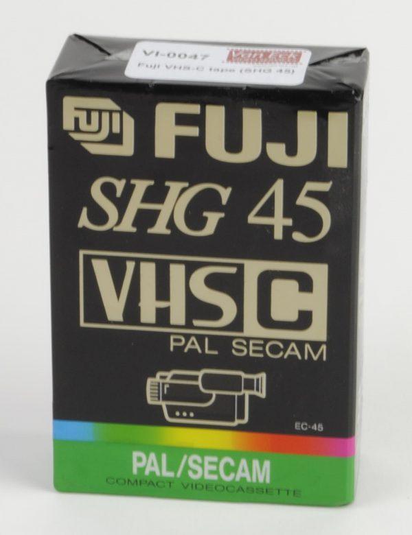 Fuji VHS-C tape (SHG 45)