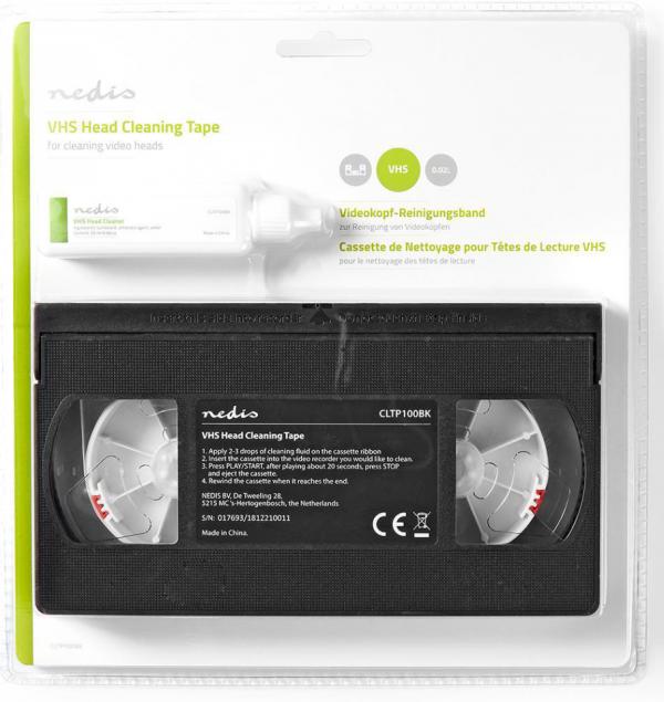Reinigingscassette voor VHS-koppen   20 ml (Nedis)