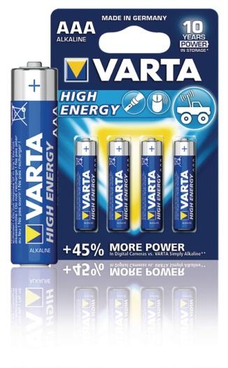 Batterij Varta 1.5V AAA (4 stuks)