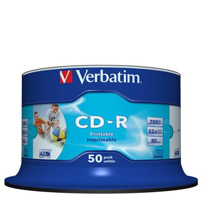 Verbatim CDR700Mb AZO Wide Inkjet Printable 50st (43438)