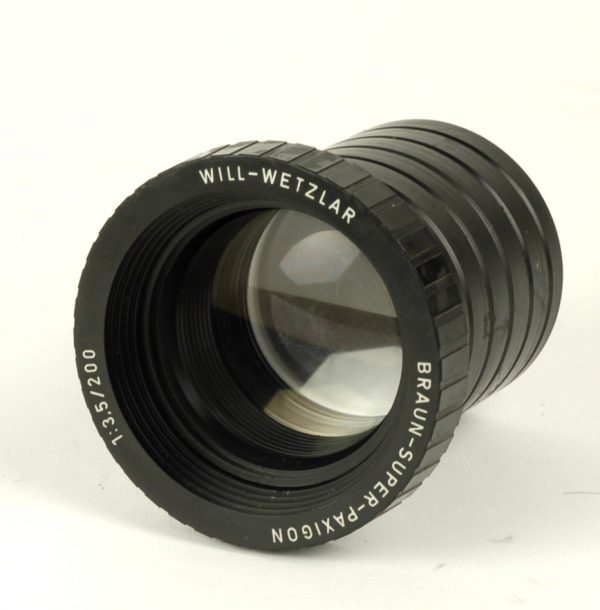 Objectief/lens - Braun-Super-Paxigon 1:3,5 / 200 Will-Wetzlar