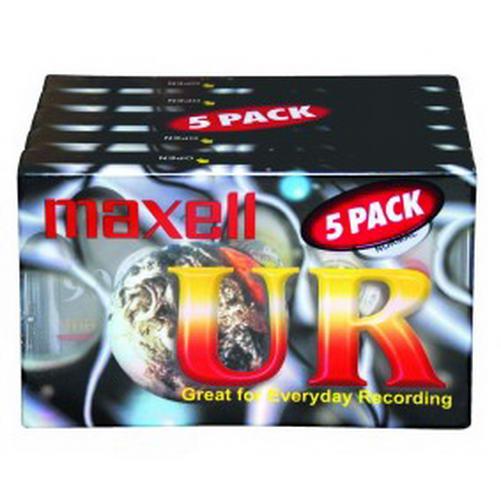 Maxell audiocassette UR 90 minuten - 5 pack