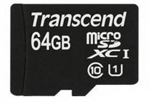 Transcend Micro SDXC 64GB UHS-1 (600X) + 1 adapter