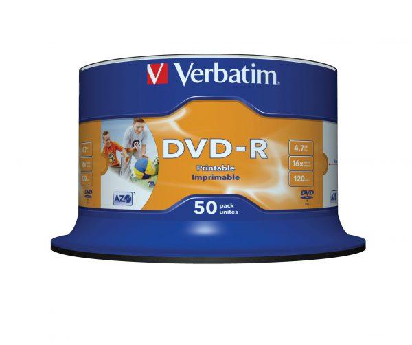 Verbatim DVD-R disc 4.7 GB 43533 50 stuks Spindel Bedrukbaar