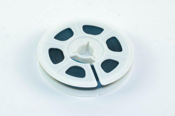 Super8/Single8 Film Leader - semi transparant blauw Acetaat - 15m (50ft)