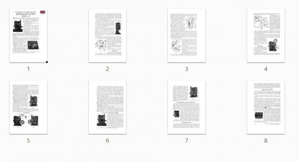 Kodak Kodascope Eight Model 40 Gebruikshandleiding, Talen: Engels