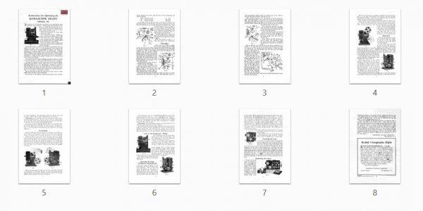 Kodak Kodascope Eight Model 50 Gebruikshandleiding, Talen: Engels