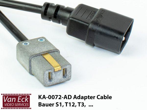 Adapter voedingskabel Bauer S1, T3, T12, ... (KA-0072-AD)
