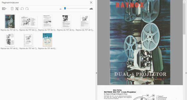 Raynox DU-707 DU-707A Gebruikshandleiding, Talen: Duits